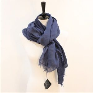 Blue modal wool blend light scarf NWT